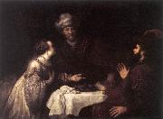 VICTORS, Jan Esther and Haman before Ahasuerus er oil painting artist